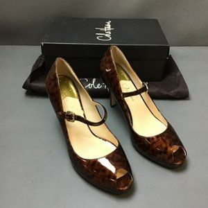 Cole Haan Tortoise Shell Patent Leather Pumps